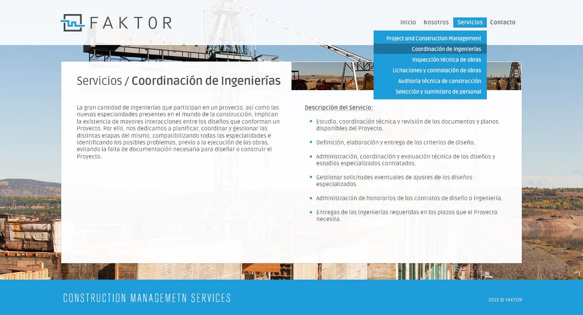 Faktor / Web · Servicios