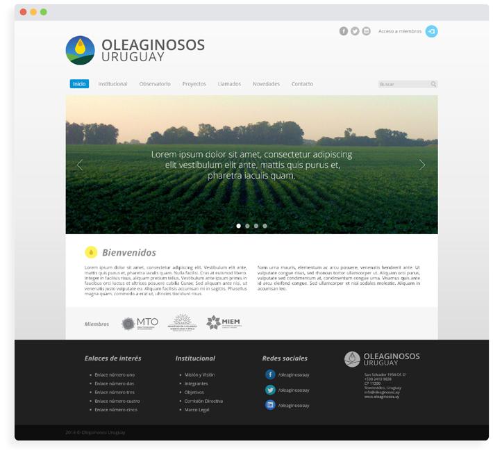 Oleaginosos Uruguay / Sitio web